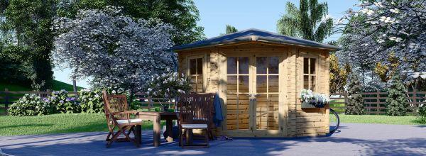 Casetta in legno da giardino AIDA (28 mm), 3x3 m, 9 m²