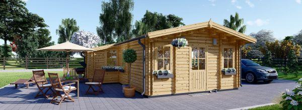 Casa in legno coibentata DIJON 44 mq