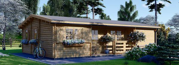Casa in legno abitabile UZES (Coibentata, 44+44 mm), 70 m²