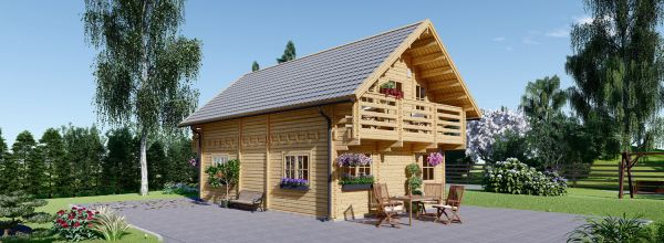 Casa in legno LANGON (66 mm), 95 m²