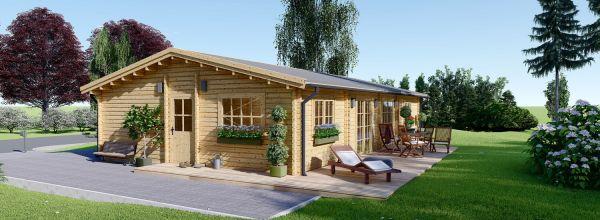 Casa in legno coibentata LIMOGES 103 mq
