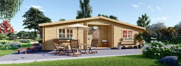 Casa in legno abitabile FILL (Coibentata, 44+44 mm), 60 m²
