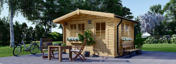 Casetta in legno da giardino DREUX (44 mm), 4x3 m, 12 m²