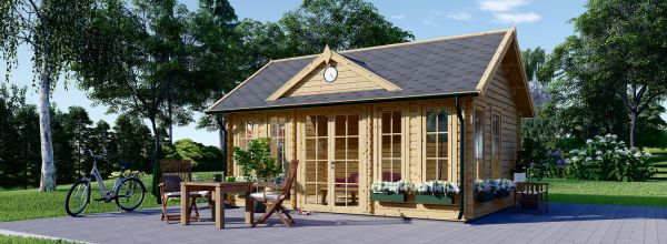 Casetta da giardino coibentata CLOCKHOUSE 5.5x4 m 22 mq