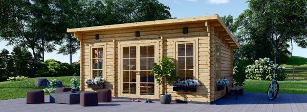 Casetta in legno da giardino ESSEX (Coibentata, 44+44 mm), 5x4 m, 20 m²