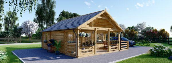 Casa in legno coibentata ANGERS 36 mq + terrazza 19 mq
