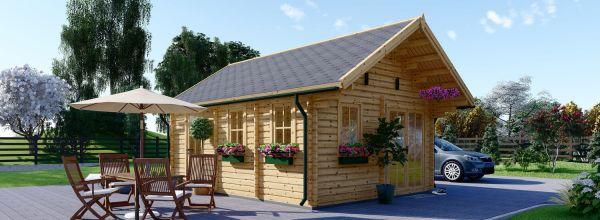 Casa in legno coibentata SCOOT 27 mq + 10 mq di mezzanino