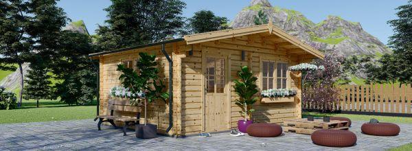 Casa in legno NINA due stanze (44 mm) 6x6 m 36 mq