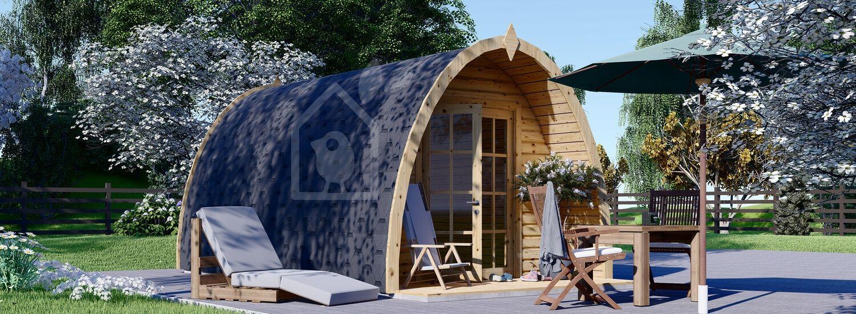 Casetta in legno da giardino BRETA (28 mm), 3x5 m, 15 m² visualization 1