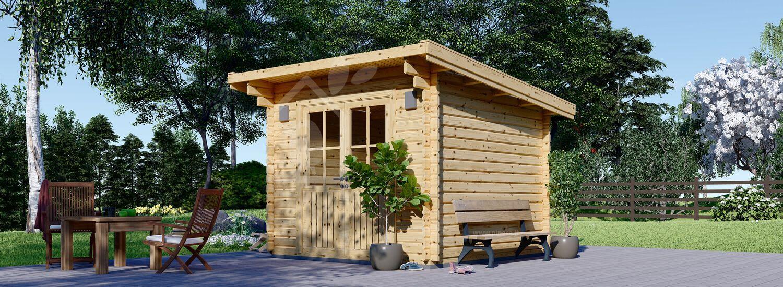 Casetta in legno da giardino MALTA (34 mm), 3x3 m, 9 m² visualization 1