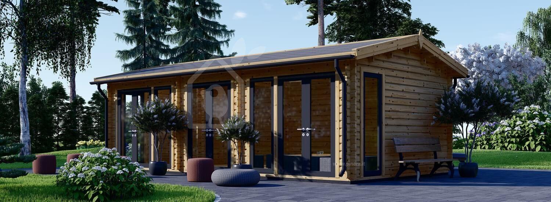 Casa in legno da giardino MARION (44 mm), 7.5x4 m, 30 m² visualization 1
