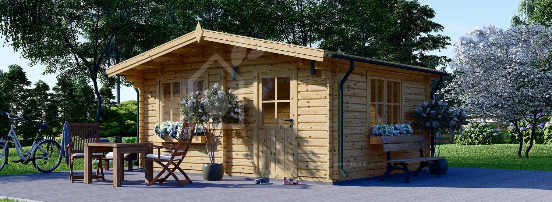 Casetta in legno da giardino DREUX (66 mm), 5x4 m, 20 m² visualization 1