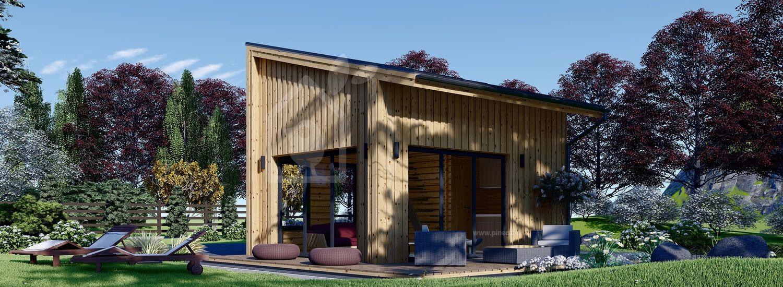 Casa in legno abitabile SOPHIA (Coibentata, 44 mm + rivestimento), 20 m² visualization 1