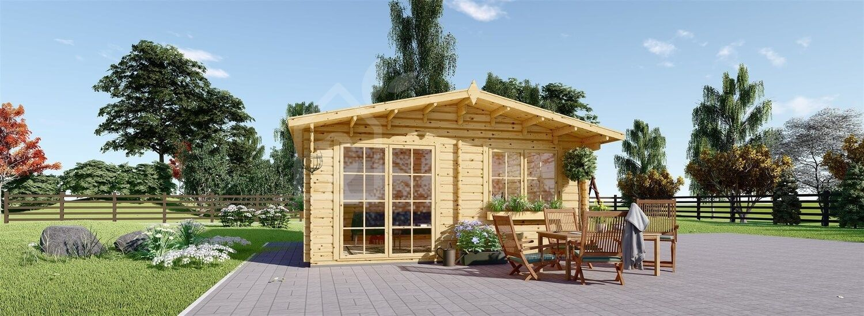 Casetta in legno da giardino WISSOUS (34 mm), 5x4 m, 20 m² visualization 1