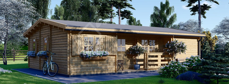 Casa in legno UZES (66 mm), 70 m² visualization 1