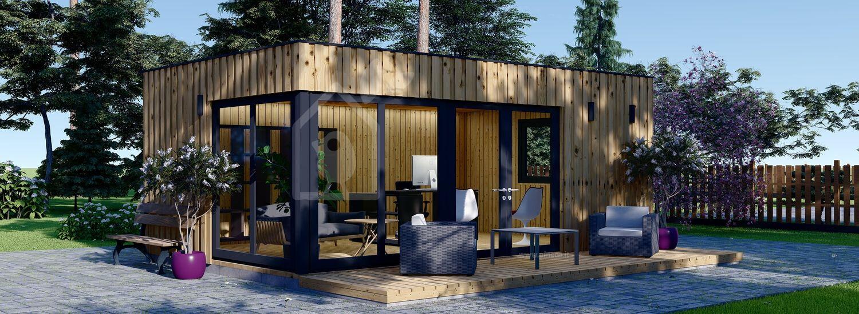 Ufficio in legno da giardino PREMIUM (Coibentato, pannelli SIP), 6x4 m, 24 m² visualization 1