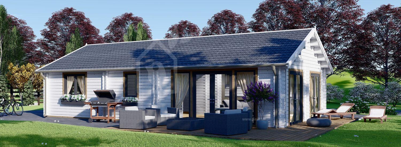 Casa in legno ANICA (44+44 mm), 71 m² visualization 1