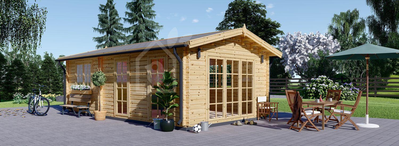 Casa in legno MAX (44 mm), 4.2x7.5 m, 32 m² visualization 1