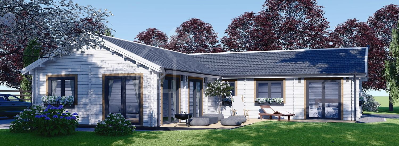Casa in legno abitabile PAULA (Coibentata PLUS, 44+44 mm), 129 m² visualization 1