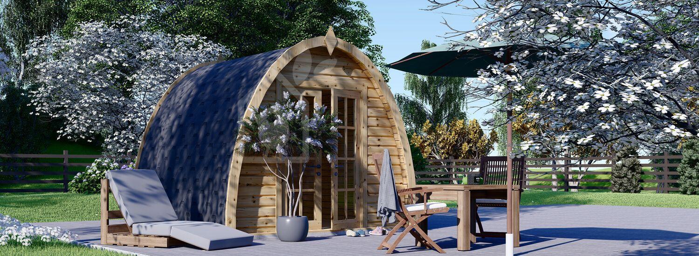Casetta in legno da giardino BRETA (28 mm), 3x3 m, 9 m² visualization 1