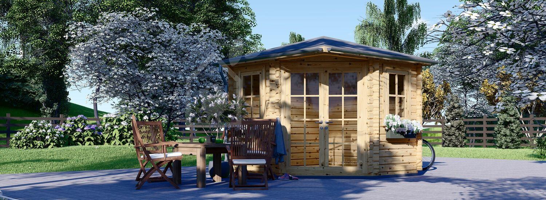Casetta in legno da giardino AIDA (28 mm), 3x3 m, 9 m² visualization 1