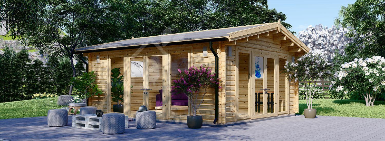 Casetta in legno da giardino MIA (44+44 mm, coibentata), 5.5x5.5 m, 30 mq visualization 1