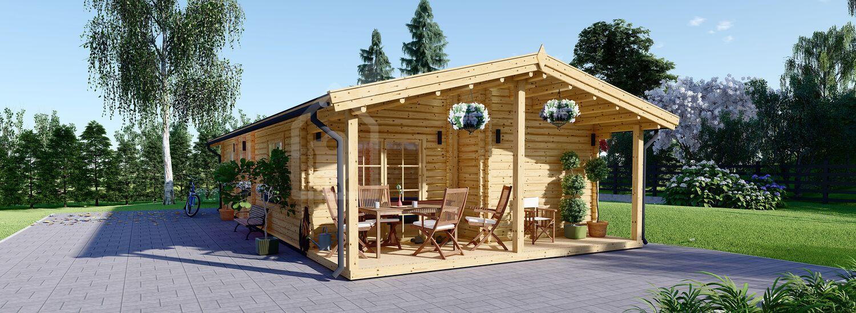 Casa in legno LINCOLN (66 mm), 72 m² visualization 1