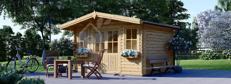 Casetta in legno da giardino OLYMP (44 mm), 4x3 m, 12 m² visualization 1