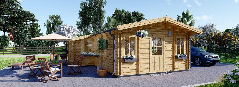 Casa in legno coibentata DIJON 44 mq visualization 1