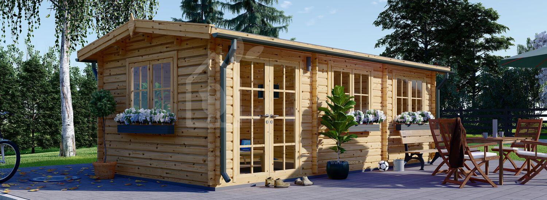 Casetta in legno da giardino NORA (44 mm), 7x3.5 m, 24 m² visualization 1
