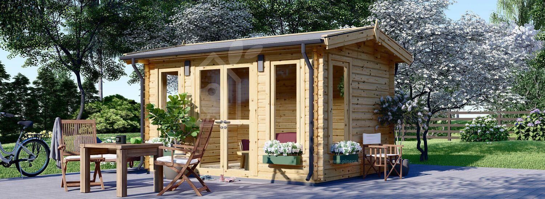 Casetta in legno da giardino POOLHOUSE (44 mm), 4x3 m, 12 m² visualization 1