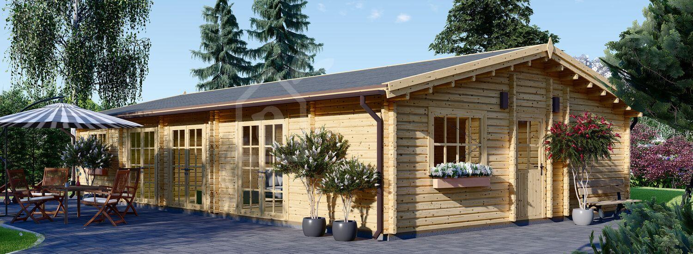 Casa in legno JULIA (66 mm) 94 mq + deposito attrezzi visualization 1