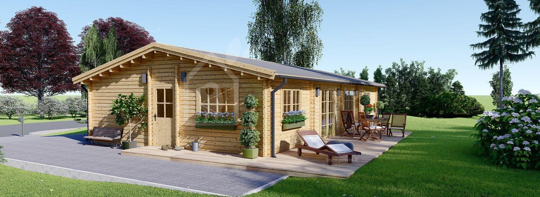 Casa in legno LIMOGES (44+44 mm), 103 m² visualization 1