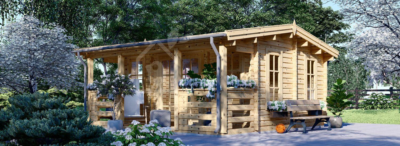 Casetta in legno da giardino ROYAL (44 mm), 5x5 m, 25 m² visualization 1