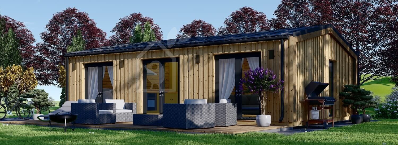 Casa in legno abitabile ANGELA (Coibentata PLUS, 44 mm + rivestimento), 50 m² visualization 1