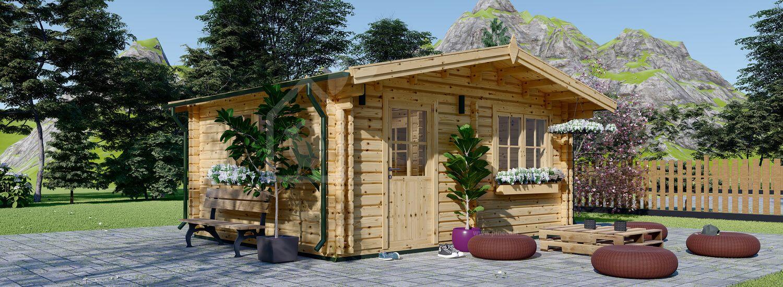 Casetta in legno da giardino NINA (Coibentata, 44+44 mm), 6x6 m, 36 m² visualization 1