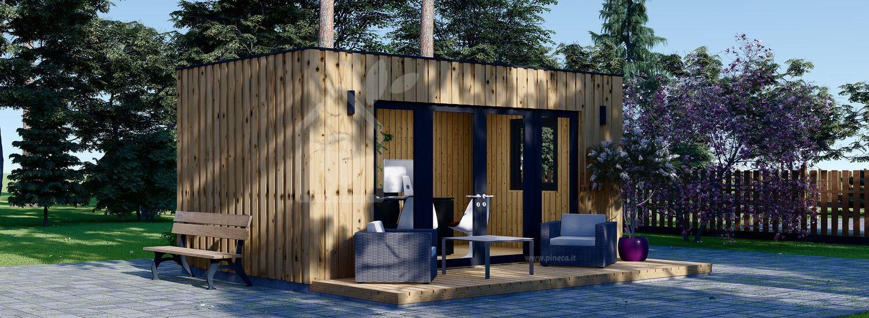 Ufficio in legno da giardino PREMIUM (Coibentato, pannelli SIP), 6x3 m, 18 m² visualization 1