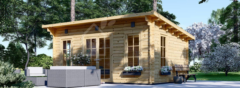 Casetta in legno da giardino ESSEX (Coibentata, 44+44 mm), 5x4 m, 20 m² visualization 1