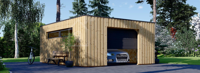 Garage in legno con tetto piano STELA F (struttura in legno), 5x6 m, 30 m² visualization 1