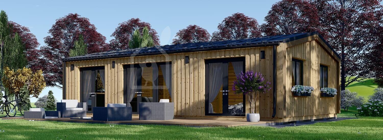Casa in legno abitabile SELENE (Coibentata PLUS, 44 mm + rivestimento), 63 m² visualization 1