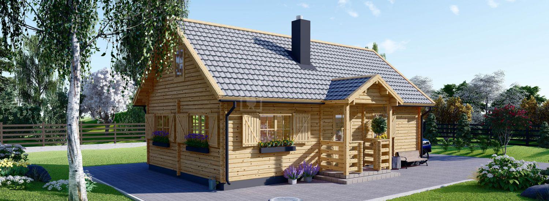 Casa in legno abitabile EMMA (Coibentata, 44+44 mm), 70 m² visualization 1