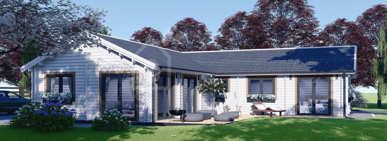 Casa in legno PAULA (44+44 mm), 129 m² visualization 1