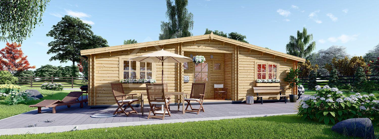Casa in legno abitabile FILL (Coibentata, 44+44 mm), 60 m² visualization 1