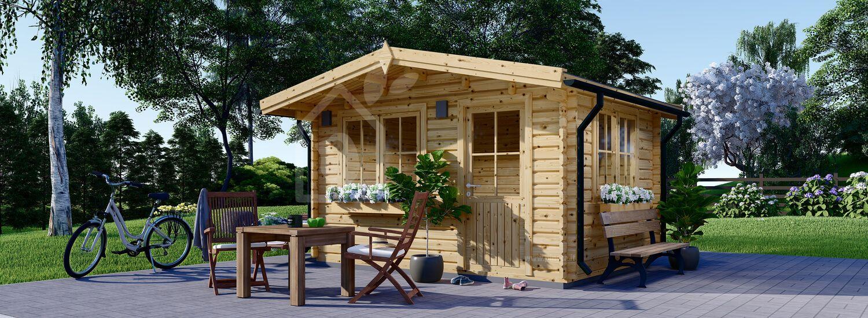 Casetta in legno da giardino DREUX (44 mm), 4x3 m, 12 m² visualization 1
