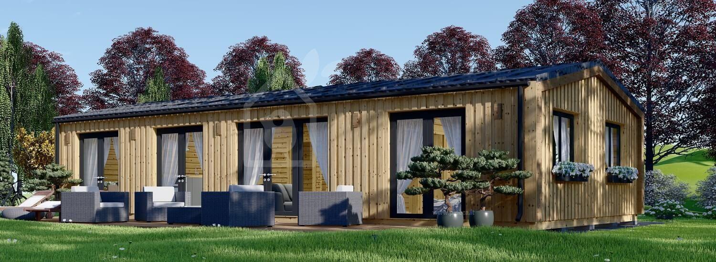 Casa in legno abitabile NICOLE (Coibentata PLUS, 44 mm + rivestimento), 78 m² visualization 1