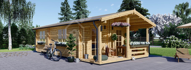 Casa in legno abitabile ARGO (Coibentata, 44+44 mm), 5x9 m, 35 m² visualization 1