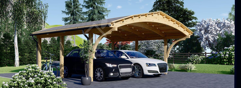Tettoia auto in legno doppia BETSY DUO 6.15x6 m visualization 1