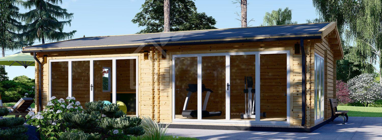 Casa in legno MARINA S (66 mm), 8x6 m, 48 m² visualization 1