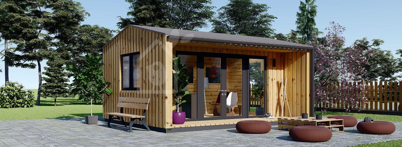 Ufficio in legno da giardino TINA (44 mm + rivestimento), 4x4 m, 12 m² visualization 1
