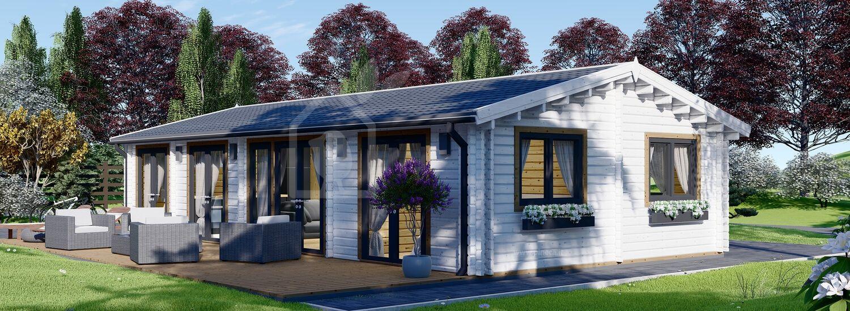 Casa in legno abitabile AGNES (Coibentata PLUS, 44+44 mm), 75 m² visualization 1